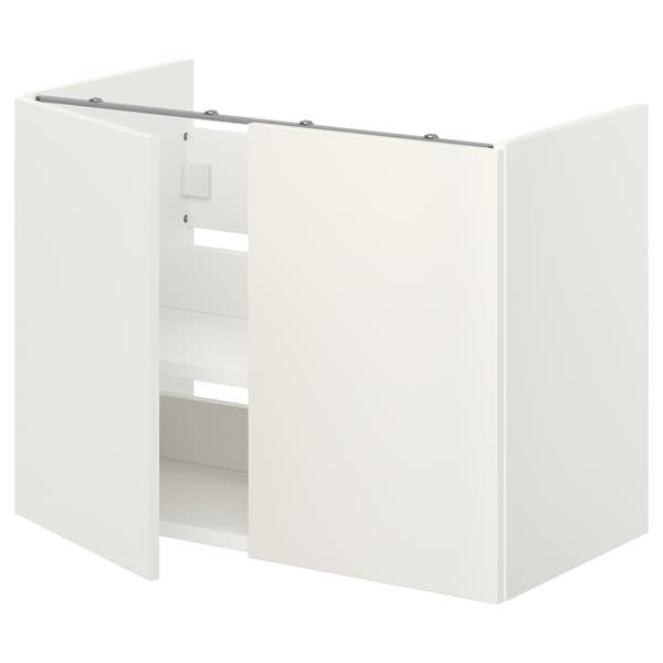ENHET Bs cb f wb w shlf/doors, white, 80x42x60 cm