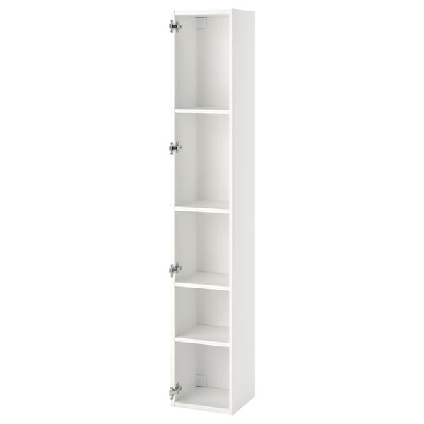 ENHET خزانة علوية مع 4 أرفف, أبيض, 30x30x180 سم