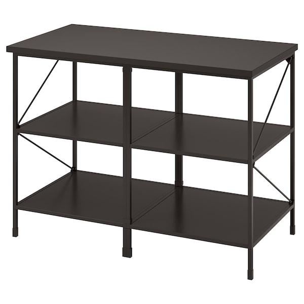 ENHET Kitchen island shelf unit, anthracite, 123x63.5x91 cm