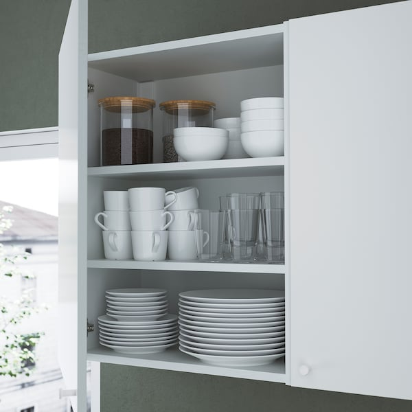 ENHET Storage combination for laundry, anthracite/white, 120x32x150 cm