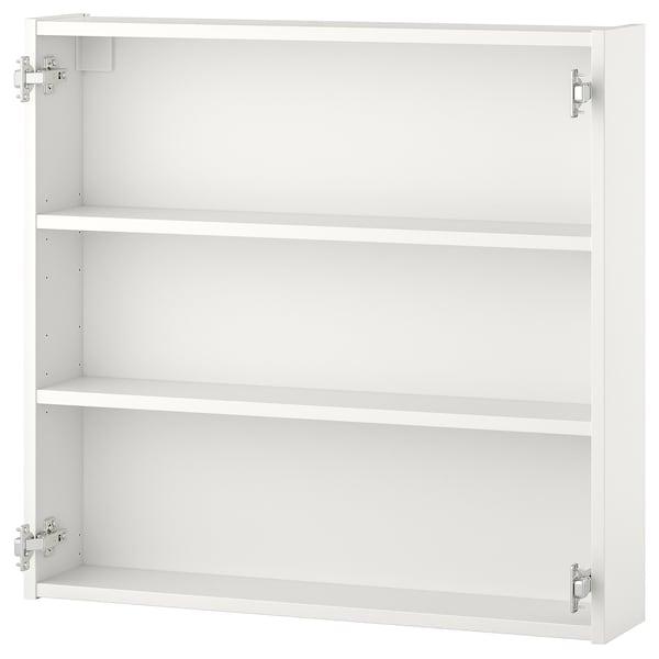 ENHET خزانة حائط مع رفين, أبيض, 80x15x75 سم