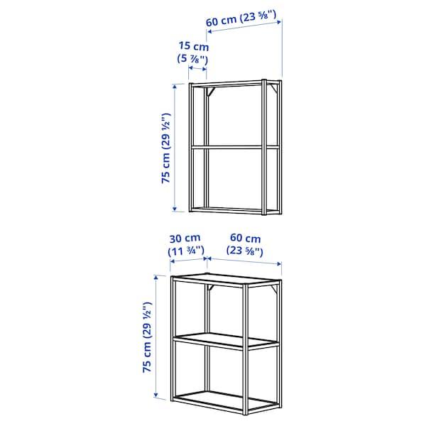ENHET Wall/floor storage combination, anthracite, 60x30x150 cm