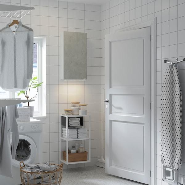 ENHET Wall storage combination, white/concrete effect, 40x30x150 cm