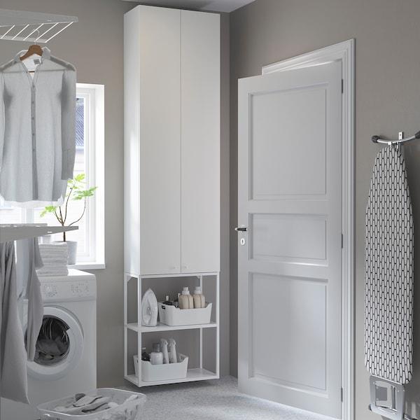 ENHET تشكيلة تخزين حائطية, أبيض, 60x32x255 سم