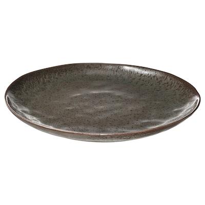 ERTAPPAD Dish, turquoise/brown, 34 cm
