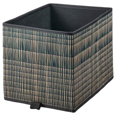 EXTRAKNÄCK Basket, seagrass/black, 25x35x25 cm