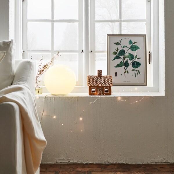 FADO مصباح طاولة, أبيض, 25 سم