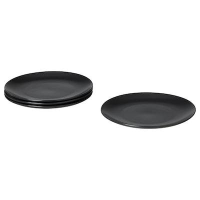 FÄRGKLAR Plate, matt dark grey, 26 cm