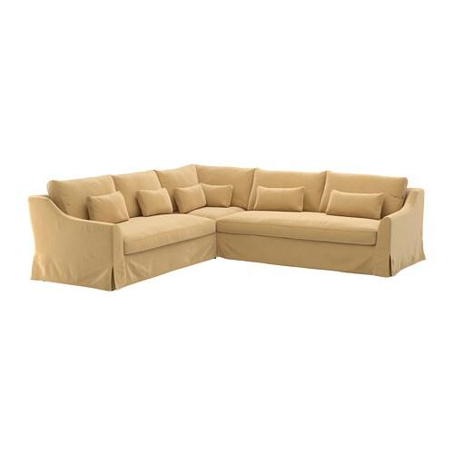 FÄRLÖV Corner sofa 2+3, Djuparp yellow-beige