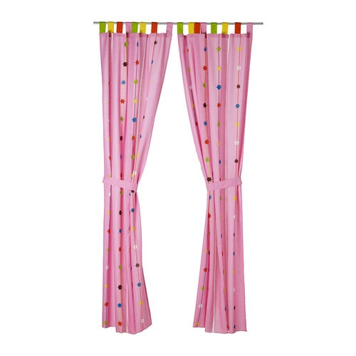 FESTLIG Curtain with tie-back   You can easily hem the curtains to the desired length with the enclosed iron-on hemming strip.