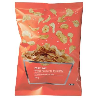 FESTLIGT Potato crisps, salted, 150 g