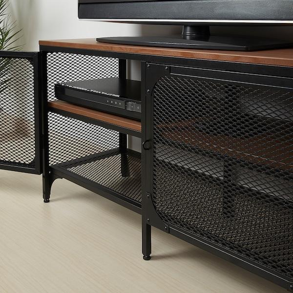 FJÄLLBO TV bench, black, 100x36x54 cm