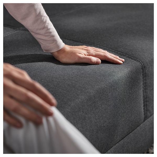 FLOTTEBO Sofa-bed with side table, Vissle dark grey, 120 cm