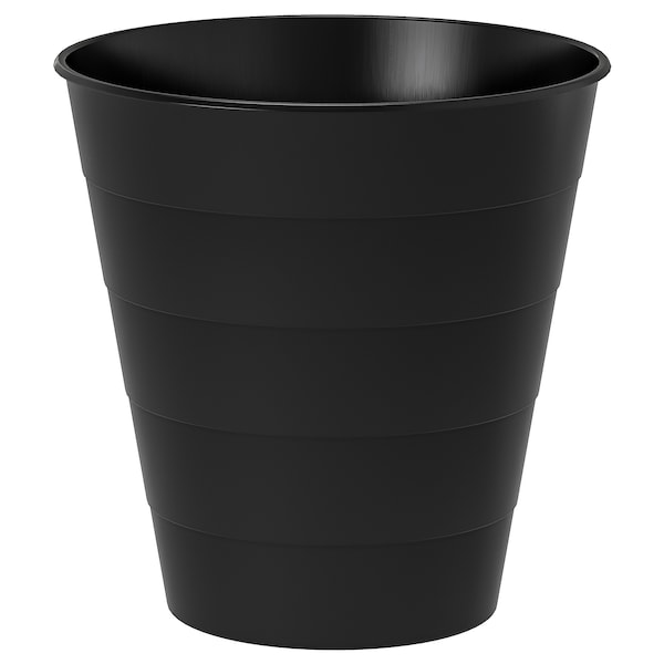 FNISS Waste bin, black, 10 l