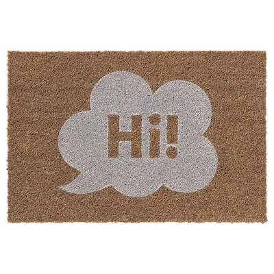 FODSLETTE Door mat, natural/white, 40x70 cm