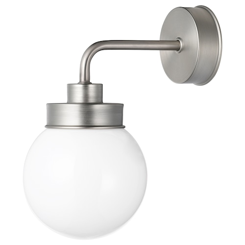 FRIHULT wall lamp stainless steel colour 5.3 W 23 cm 26.5 cm 14 cm