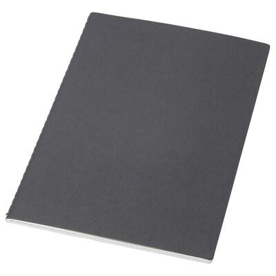 FULLFÖLJA دفتر ملاحظات, أسود, 21x15 سم