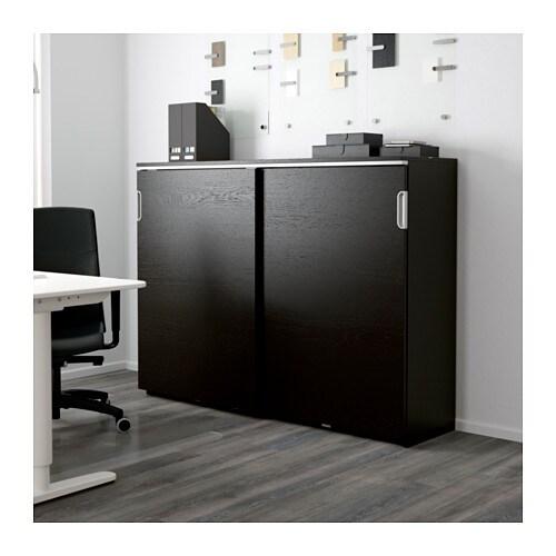 GALANT Cabinet with sliding doors - white - IKEA
