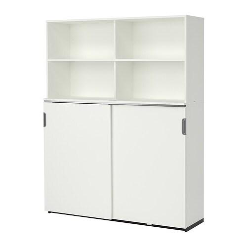 GALANT Storage combination w sliding doors - white - IKEA