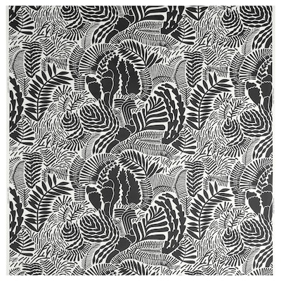 GATKAMOMILL Fabric, white/dark grey, 150 cm