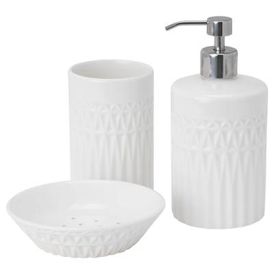 GAVIKEN 3-piece bathroom set, white