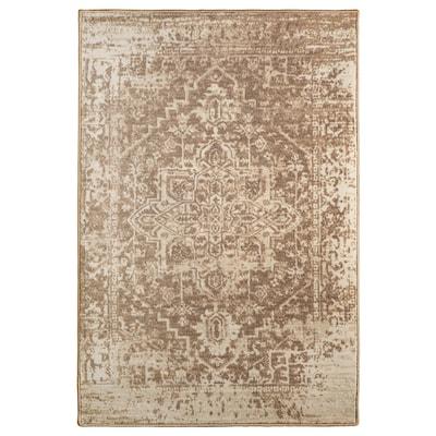 GERLEV Rug, low pile, patterned/beige, 133x195 cm