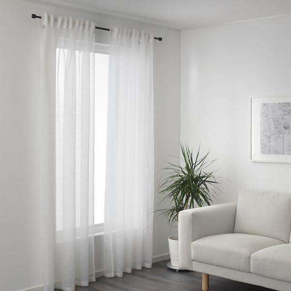GJERTRUD Sheer curtains, 1 pair, white, 145x300 cm