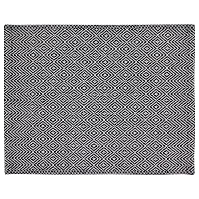 GODDAG Place mat, black/white, 35x45 cm