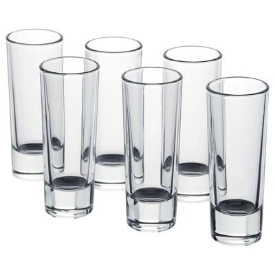 GRÅSEJ Snaps glass, clear glass, 5 cl