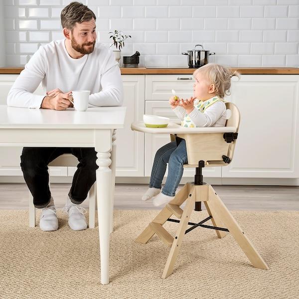 GRÅVAL كرسي للصغار/مرتفع مع صينية, بتولا