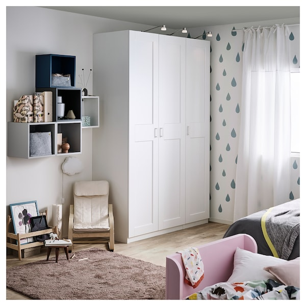 GRIMO Door with hinges, white, 50x229 cm