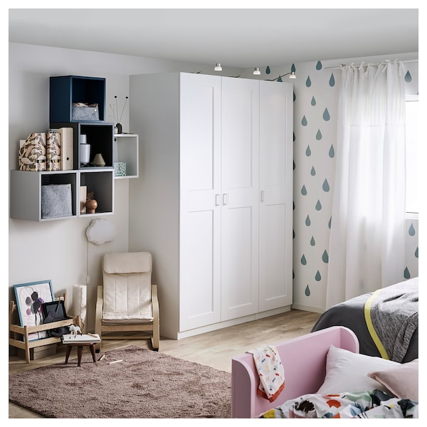 GRIMO Door with hinges, white, 50x195 cm