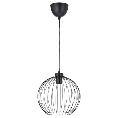 GRINDFALLET Pendant lamp, black, 30 cm