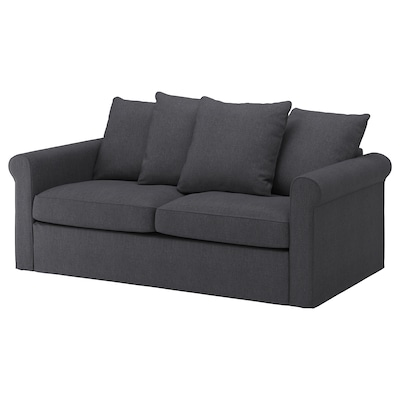GRÖNLID 2-seat sofa-bed, Sporda dark grey