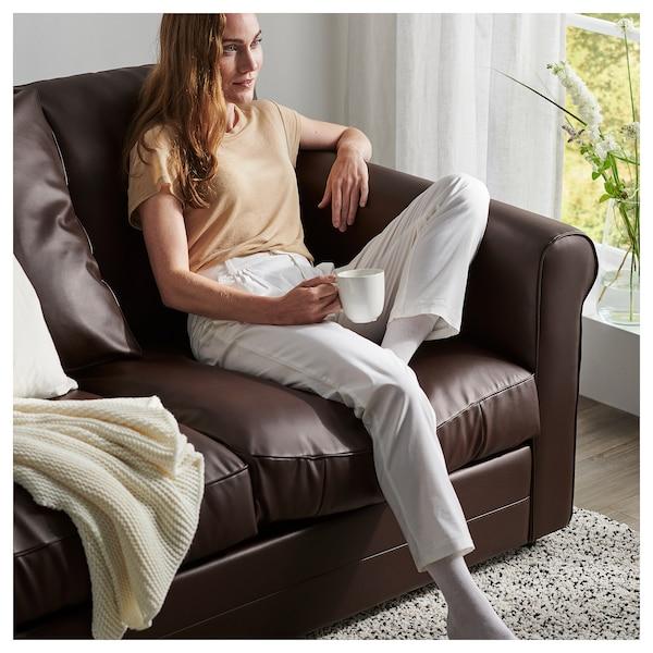 GRÖNLID 2-seat sofa, Kimstad dark brown