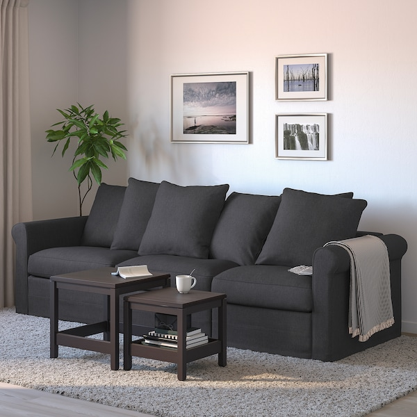 GRÖNLID 3-seat sofa-bed, Sporda dark grey