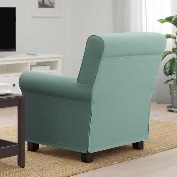 GRÖNLID Armchair, Ljungen light green