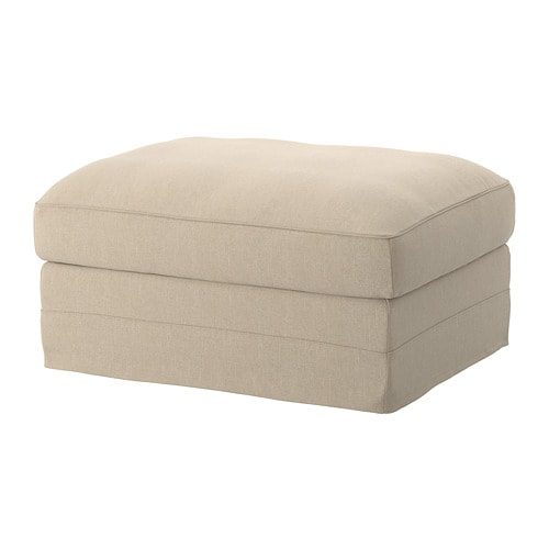 Gr 214 Nlid Footstool With Storage Sporda Natural Ikea