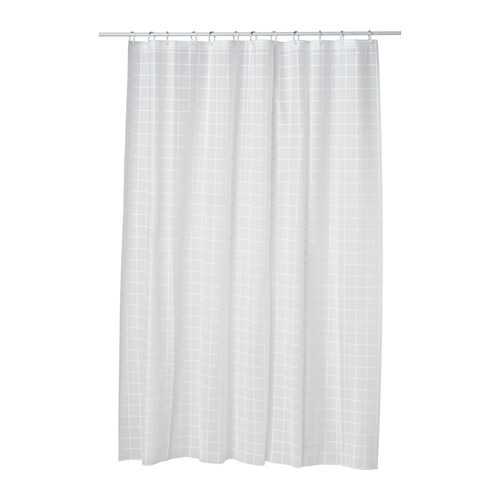 GRÖNSKA Shower curtain   Can be easily cut to the desired length.