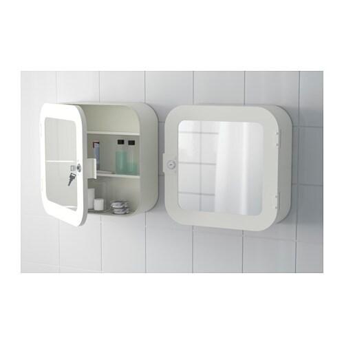 gunnern lockable mirror cabinet - white - ikea
