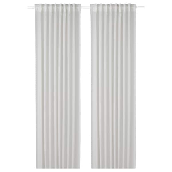 GUNRID Air purifying curtain, 1 pair, light grey, 145x300 cm