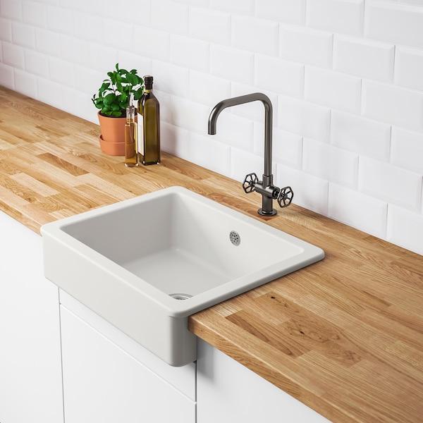 HAVSEN Sink bowl w visible front, white, 62x48 cm