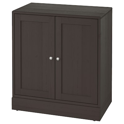 HAVSTA Cabinet with plinth, dark brown, 81x47x89 cm