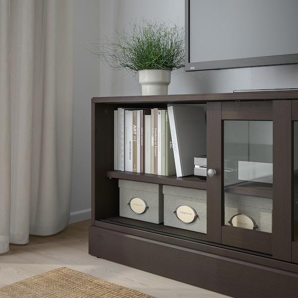 HAVSTA TV bench with plinth, dark brown, 160x47x62 cm
