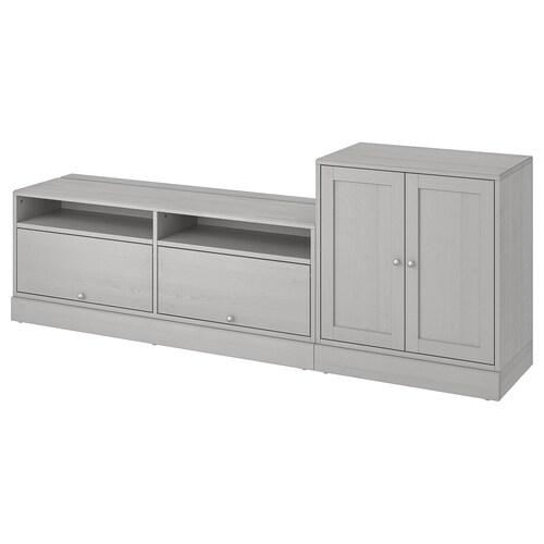 HAVSTA TV storage combination grey 241 cm 47 cm 89 cm 31 kg