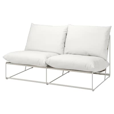 HAVSTEN 2-seat sofa, in/outdoor, without armrests/beige, 164x94x90 cm