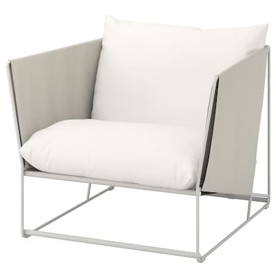 HAVSTEN Armchair, in/outdoor, beige, 98x94x90 cm