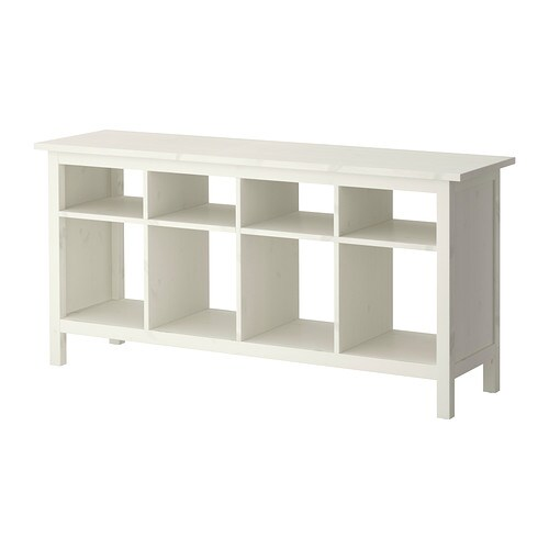 Hemnes console table white stain ikea for Ikea console table malm