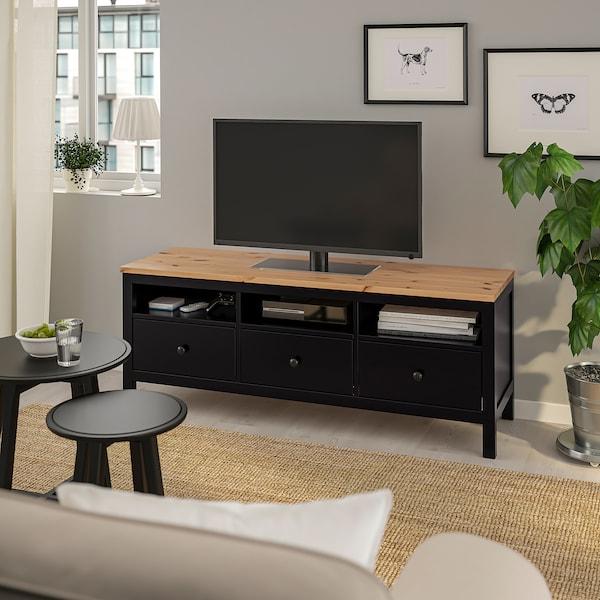 Hemnes Tv Kast Ikea.Hemnes Tv Bench Black Brown Light Brown Ikea
