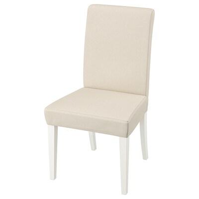 HENRIKSDAL كرسي, أبيض/Linneryd طبيعي